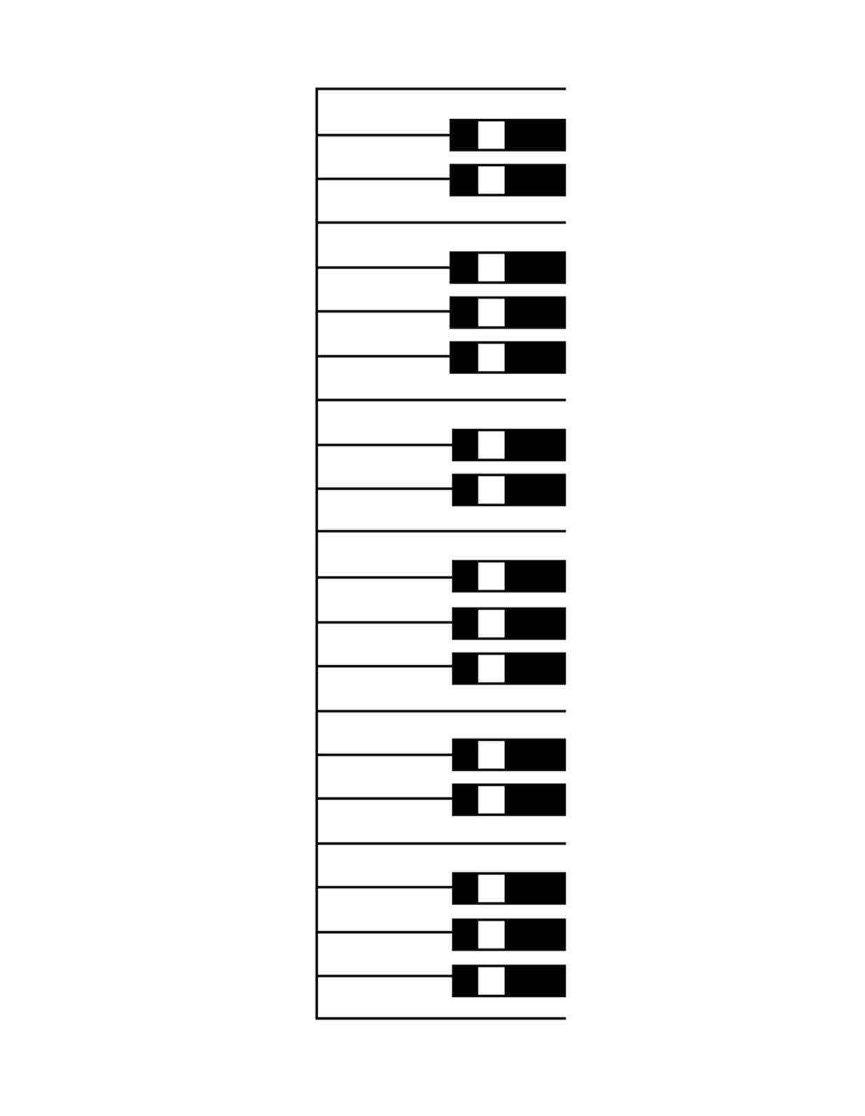 Piano Keyboard Blank