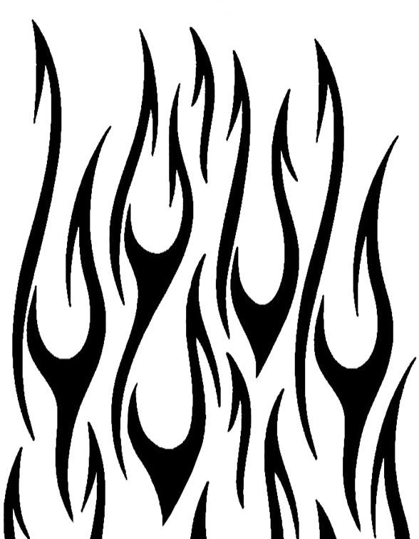 20 Black Flames Tattoos Stencils Ideas And Designs