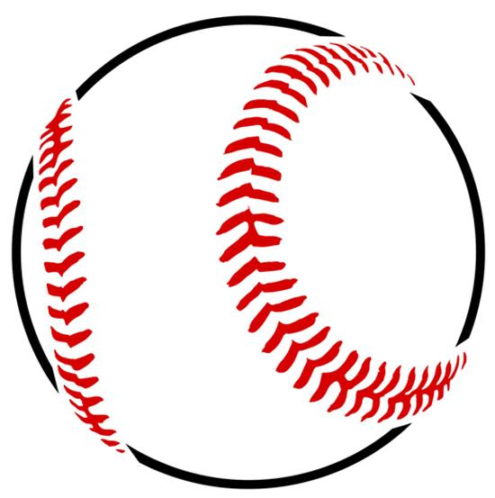 baseball template - clipart