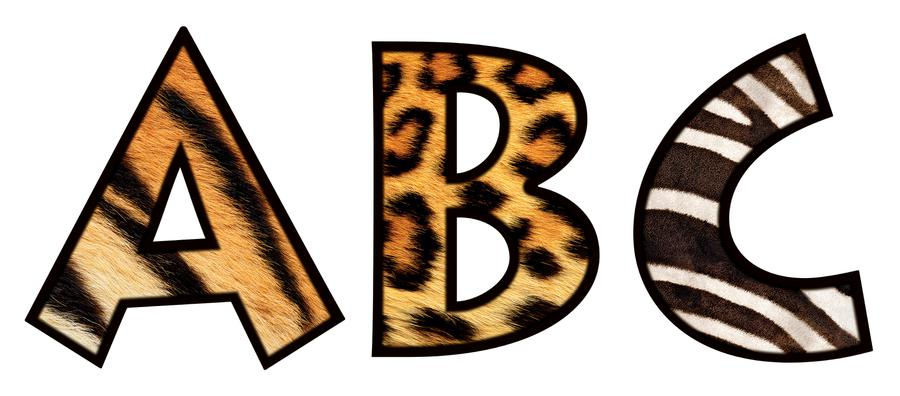 Animal Print Letters Printable ClipArt Best
