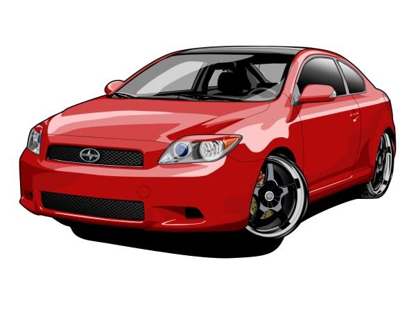 car vector graphics - clipart