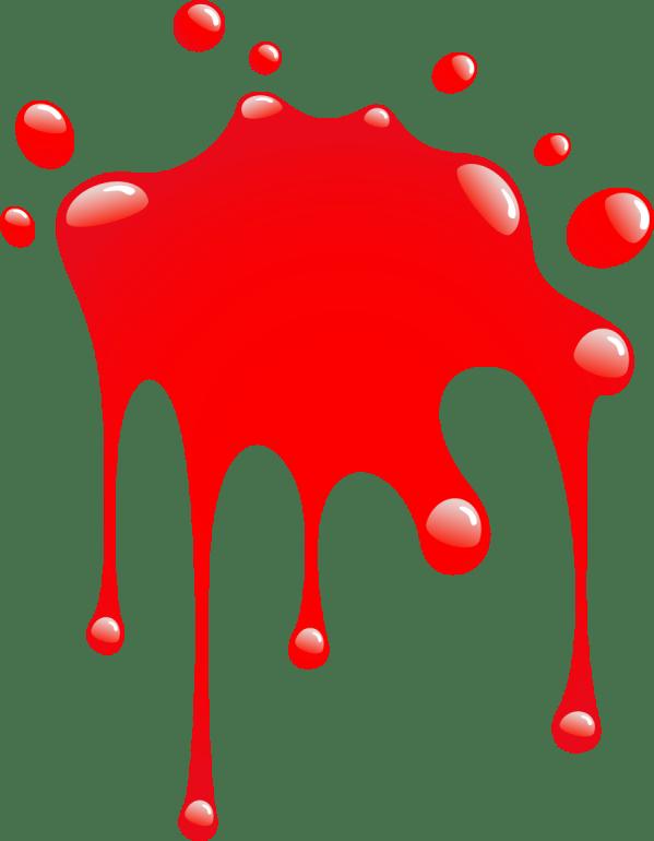 Red Paint Splatter - Clipart