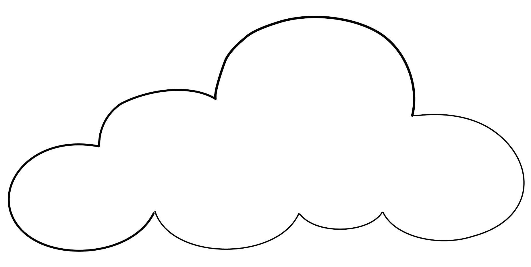 Cloud Coloring Printables