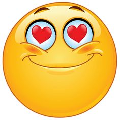 in love smiley faces - clipart