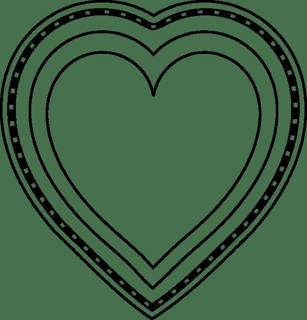 heart shape coloring sheet