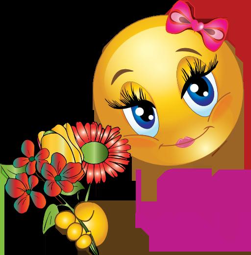 love girl smiley emoticon clipart