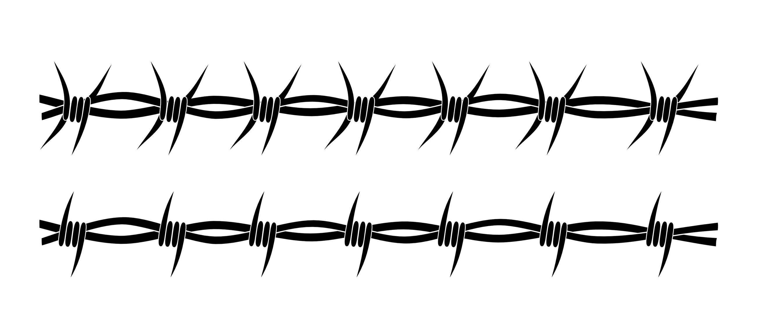 Black Barbed Wire