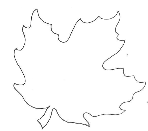 maple leaf template free printable