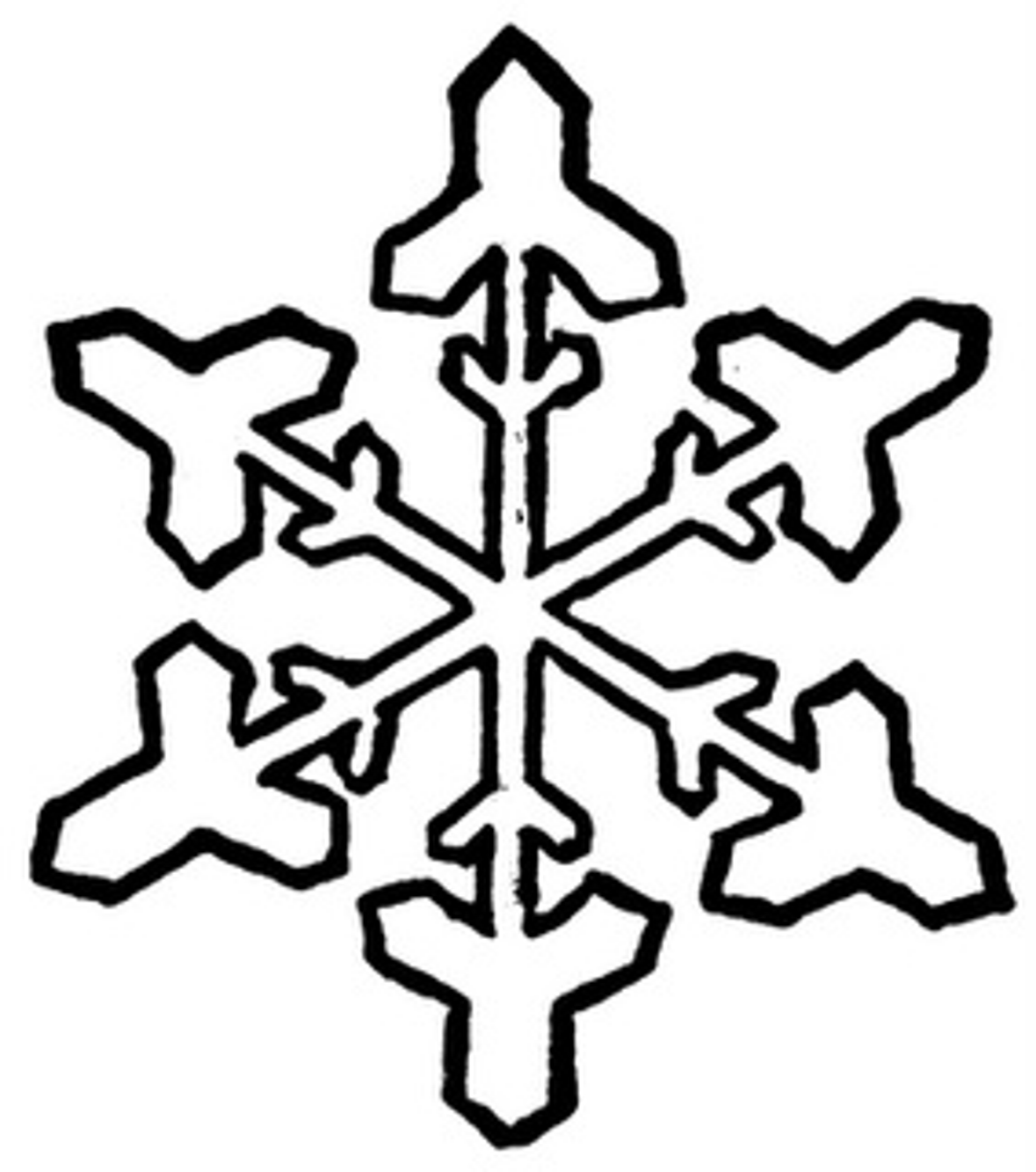 Snowflakes Outline