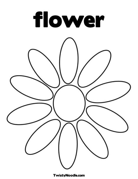 Free coloring pages of 10 flower petals
