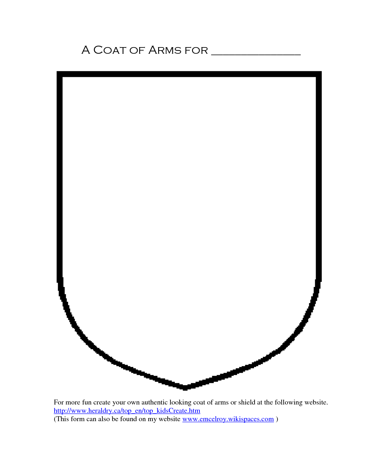 Outlines Of Coat Of Arms