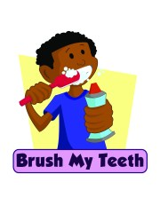 brushing teeth animation - clipart