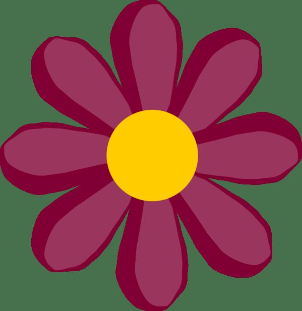 Hippie Flower Clip Art - Clipart