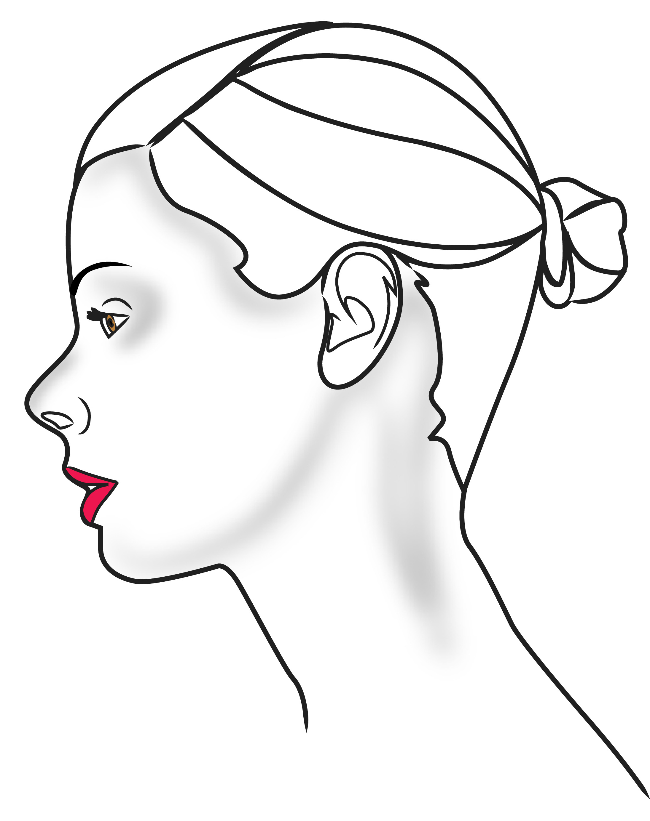 Side Face Outline
