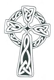 simple celtic cross - clipart