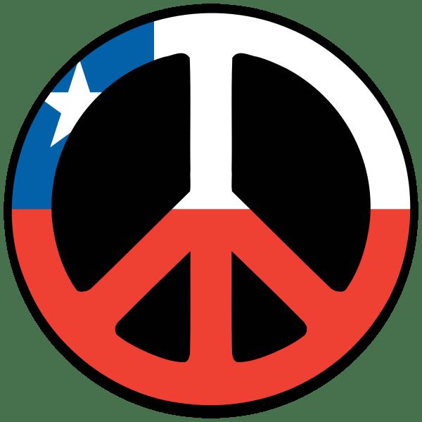 Chile Peace Symbol Flag 4 scallywag peacesymbolorg Peace