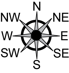 North East West South Compass - ClipArt Best