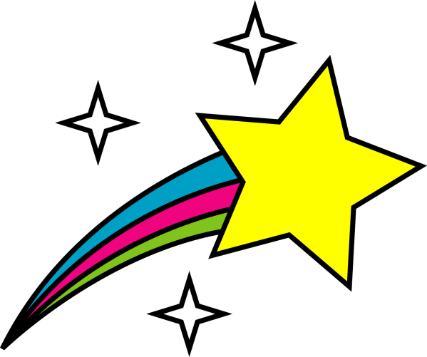 shooting star cartoon - clipart