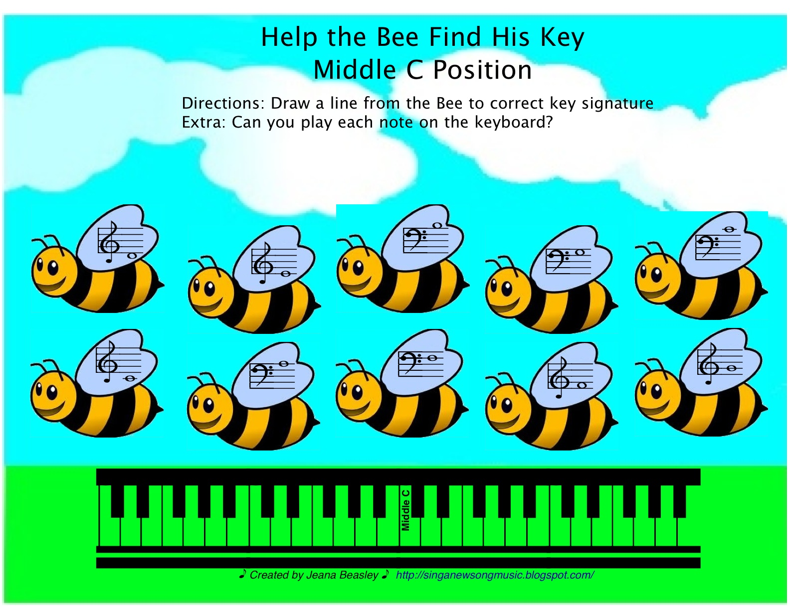 Keyboard Worksheets Beginners