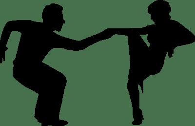bachata dance vector - clipart