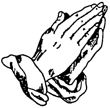 drawings of praying hands - clipart