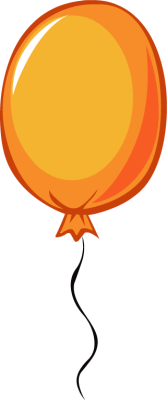 orange balloon clipart