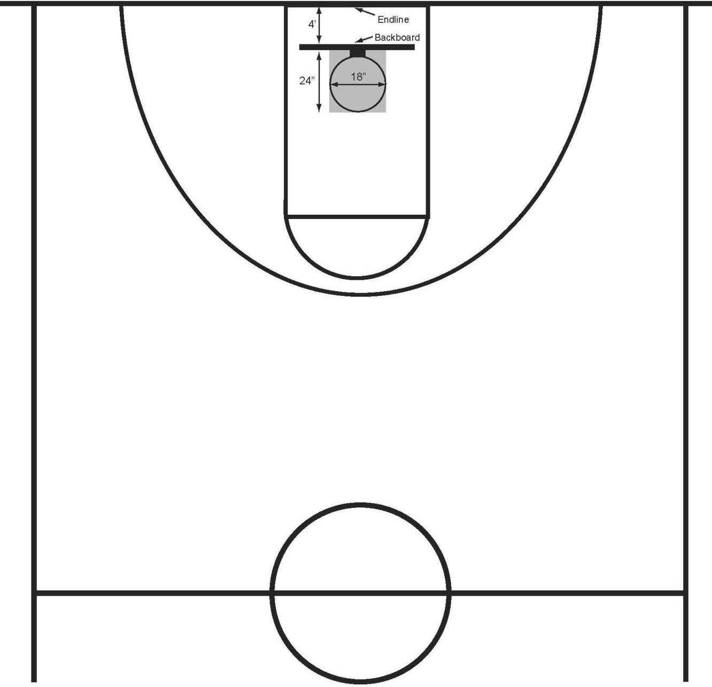 Basketball Half Court Clip Art
