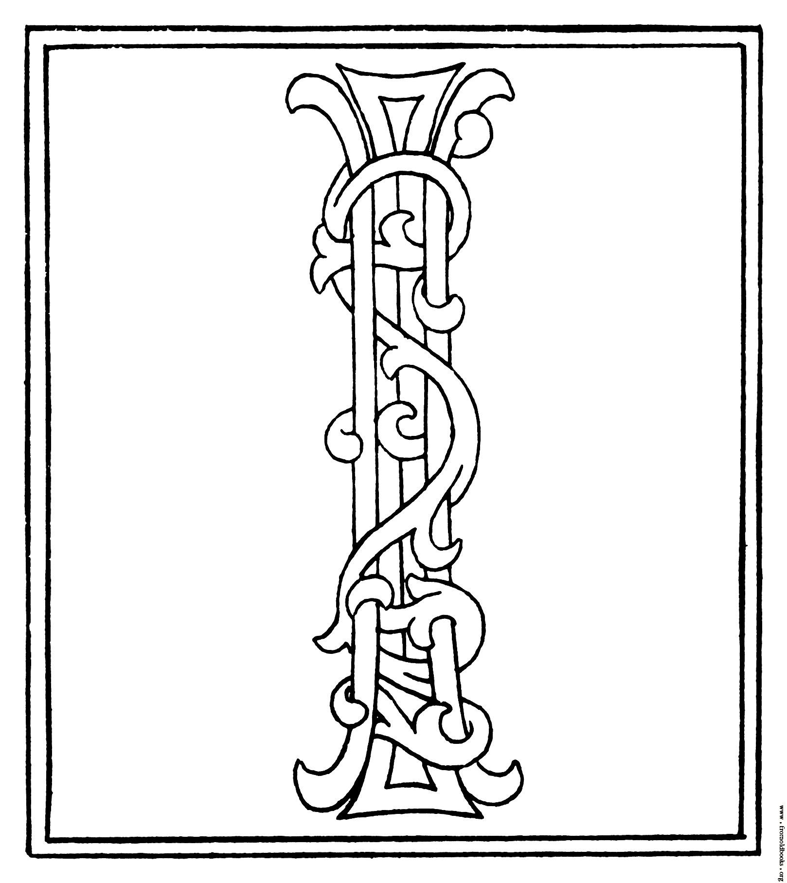 Alphabet Letter I