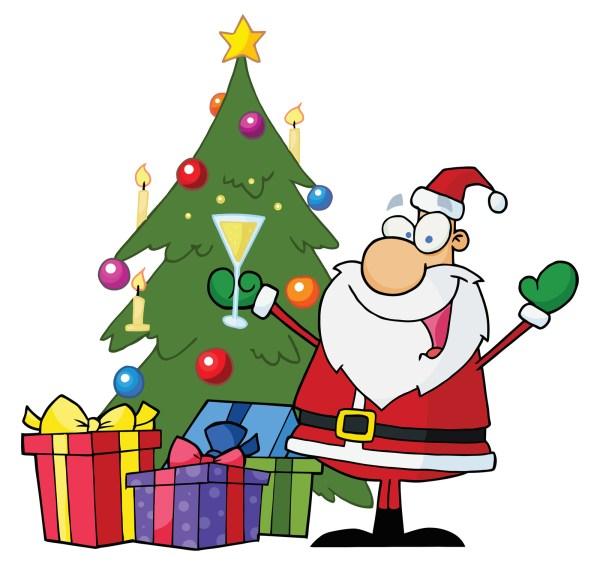 merry christmas art clip - clipart