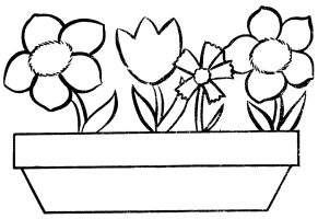 flower pot coloring page   Printable Kids Colouring Pages ...