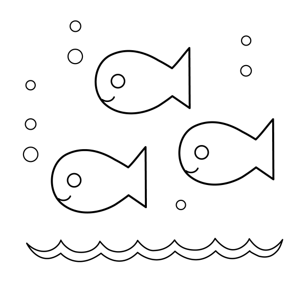 fish template - clipart