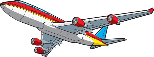 cartoon airplane - clipart