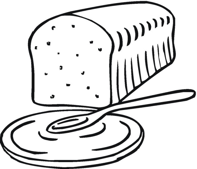 loaf of bread coloring page  clipart best