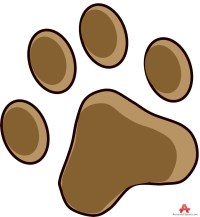 Brown Paw Print - ClipArt Best