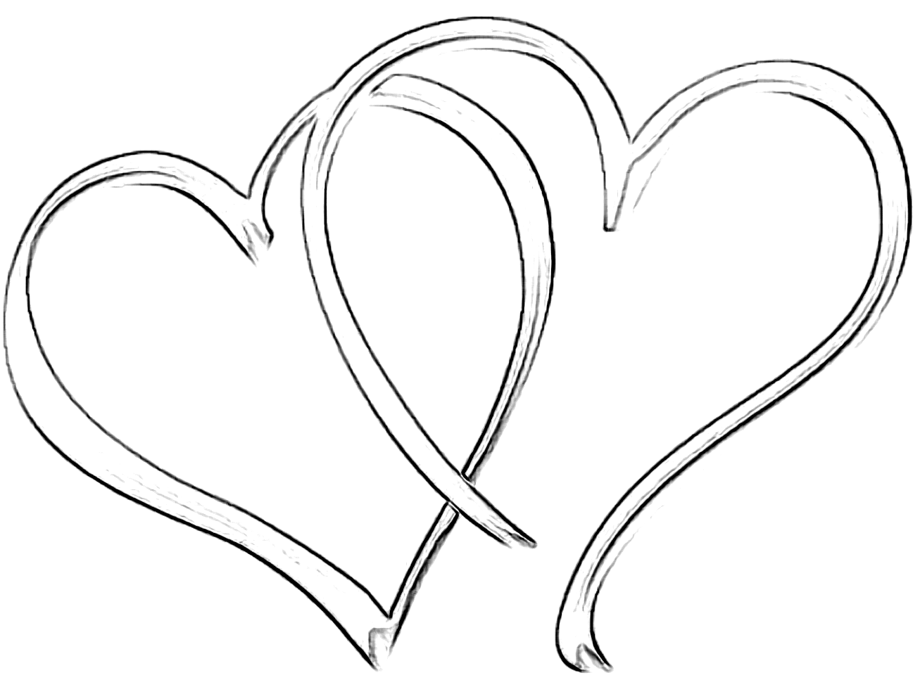 Double Heart Drawing