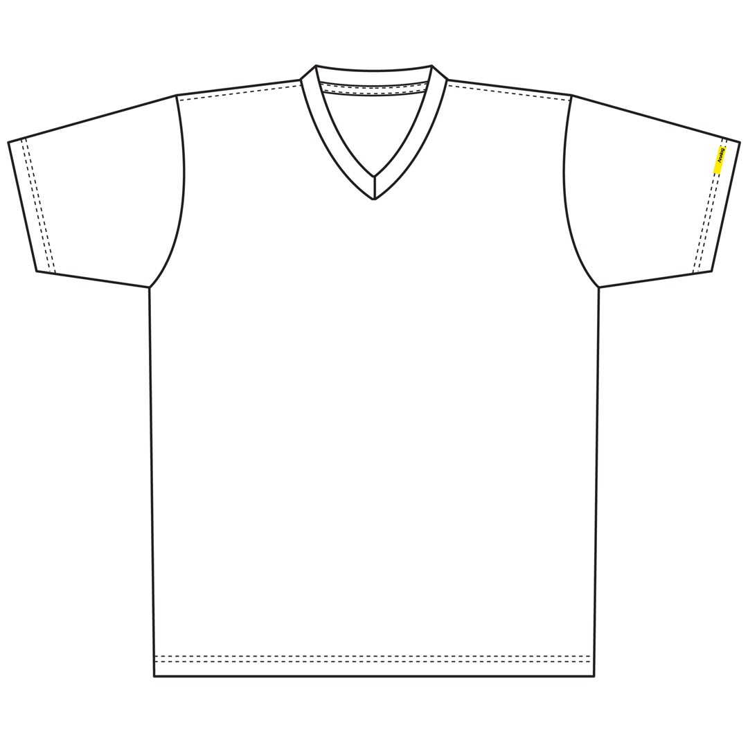 V Neck T Shirt Clipart