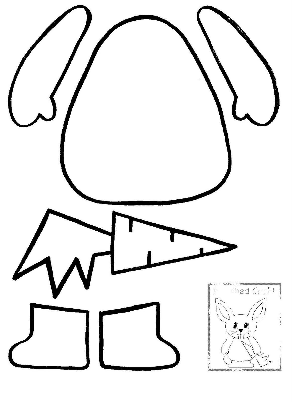 Bunny Ears Craft Template
