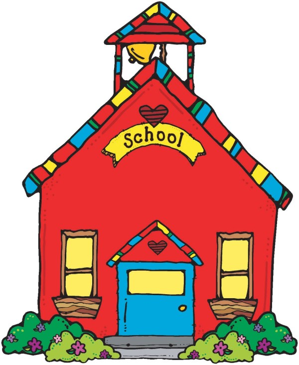 Animated School House - Clipart