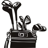 Golf Clubs Bag Sports and Hobbies Wall Art Decals ...
