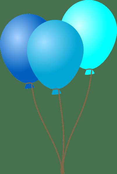 ballon blue - clipart