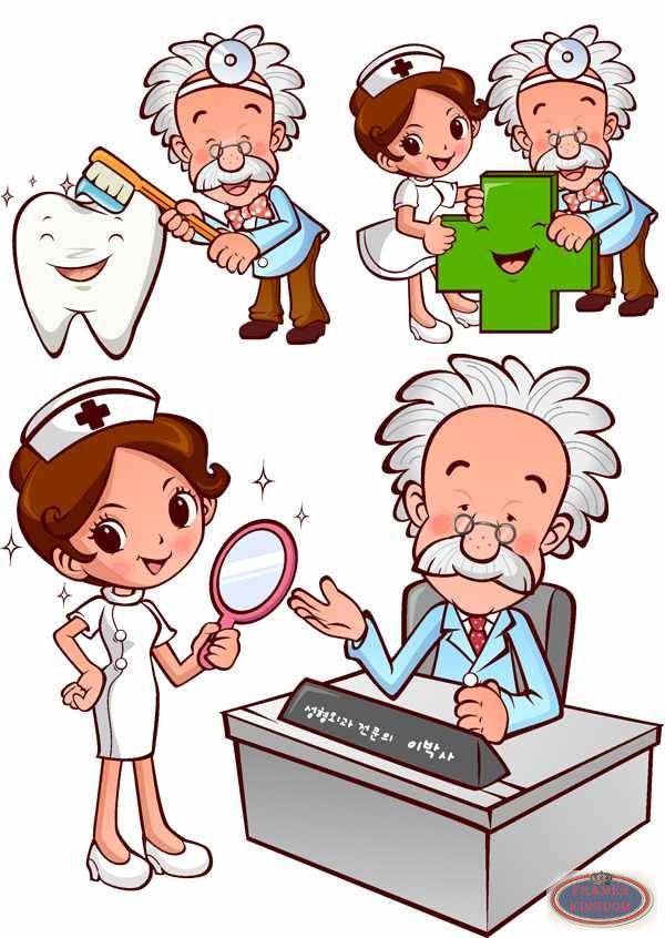 nurse cartoon - clipart