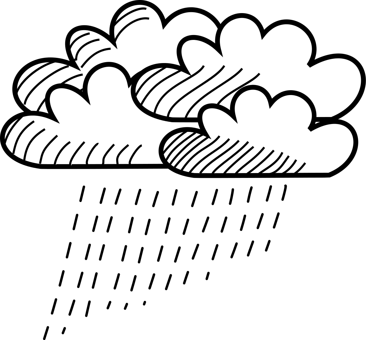 Rain Line Drawing