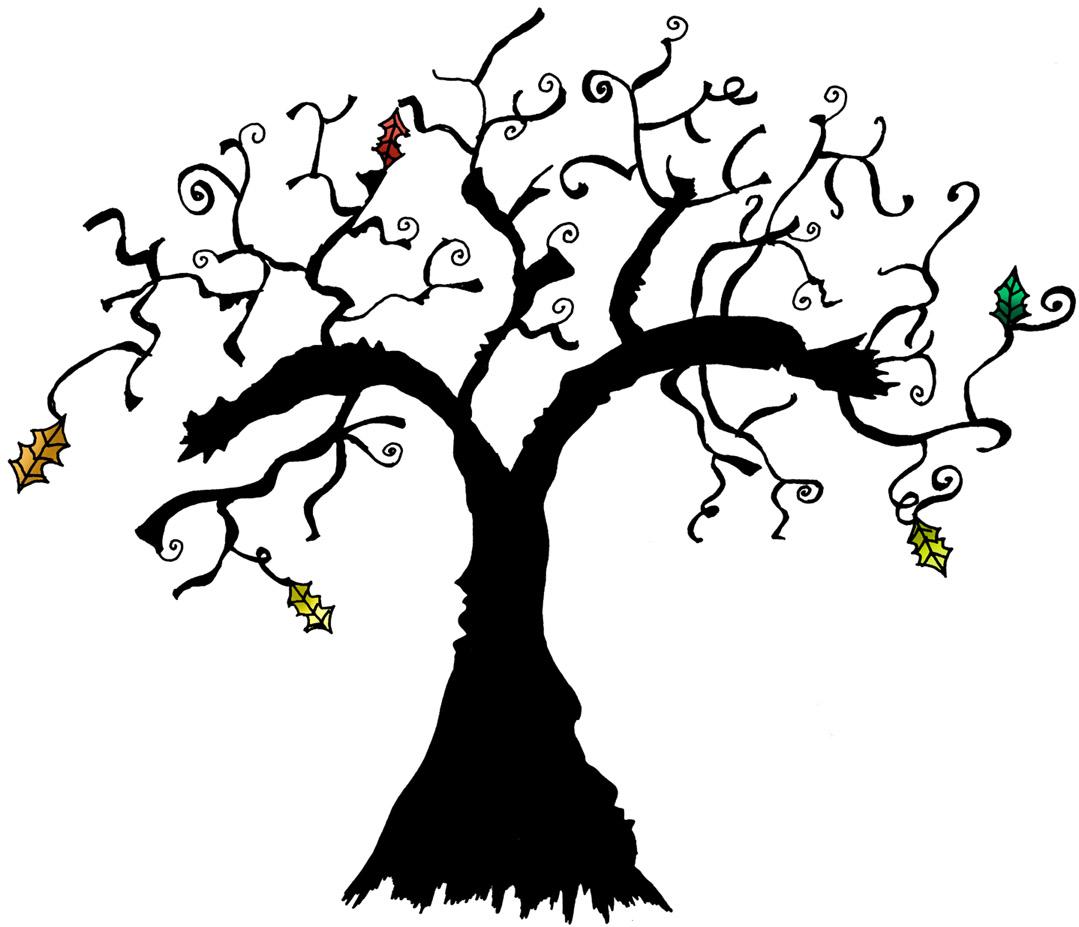 Spooky Tree Clip Art