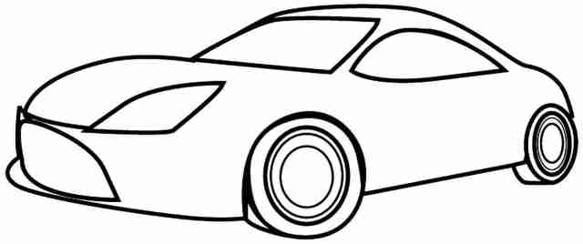 Car coloring pages easy