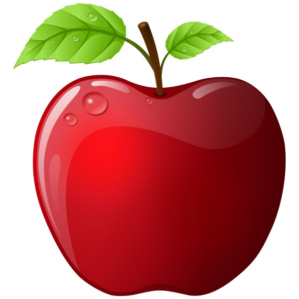 apple vector art - clipart