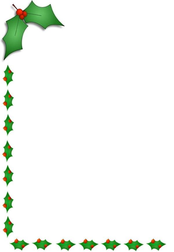 christmas holly border clip art