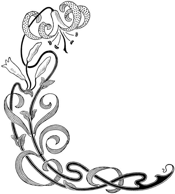 decorative flower borders - clipart