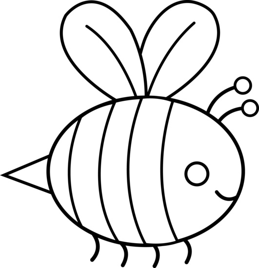 bee wings template - clipart