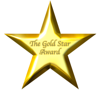 gold star template - clipart