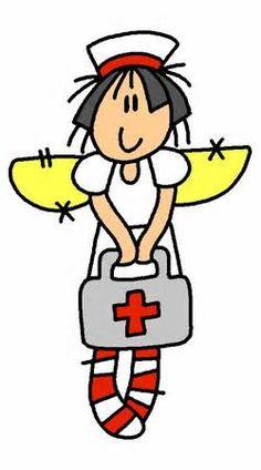 cartoon group of nurses - clipart